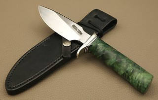Randall Model #11-4 1/2, in GREEN BOX ELDER!!!