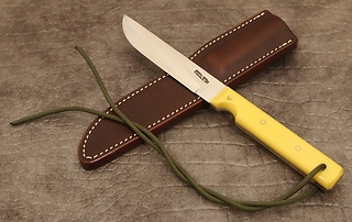 Randall Model #10-5 inch, with Yellow handle!!