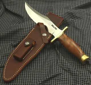 Randall Model #12-8 inch BEAR BOWIE: THUYA BURL handle!