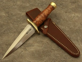 Randall Model #13-6 inch-ARKANSAS TOOTHPICK, in Thuya Burl!