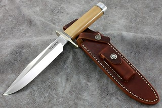 Randall Model #1 In Custom Bone Linen Micarta!!