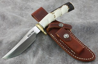 Randall Model #3-5 inch with deep, rich, amber stag!
