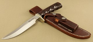 Randall Model #3-6 inch, in Red & Blue micarta!