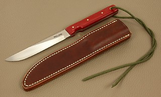 Randall Model #10-5 inch, in RED MICARTA!