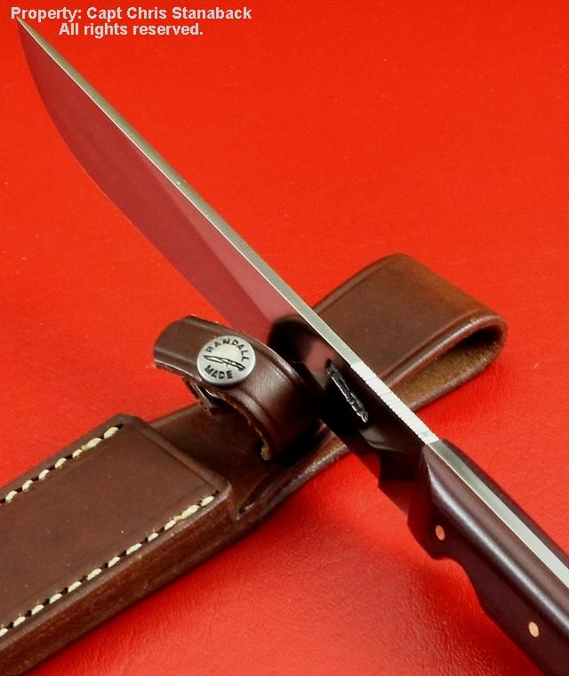 Randall Model #10-7 inch, in old canvas micarta!!