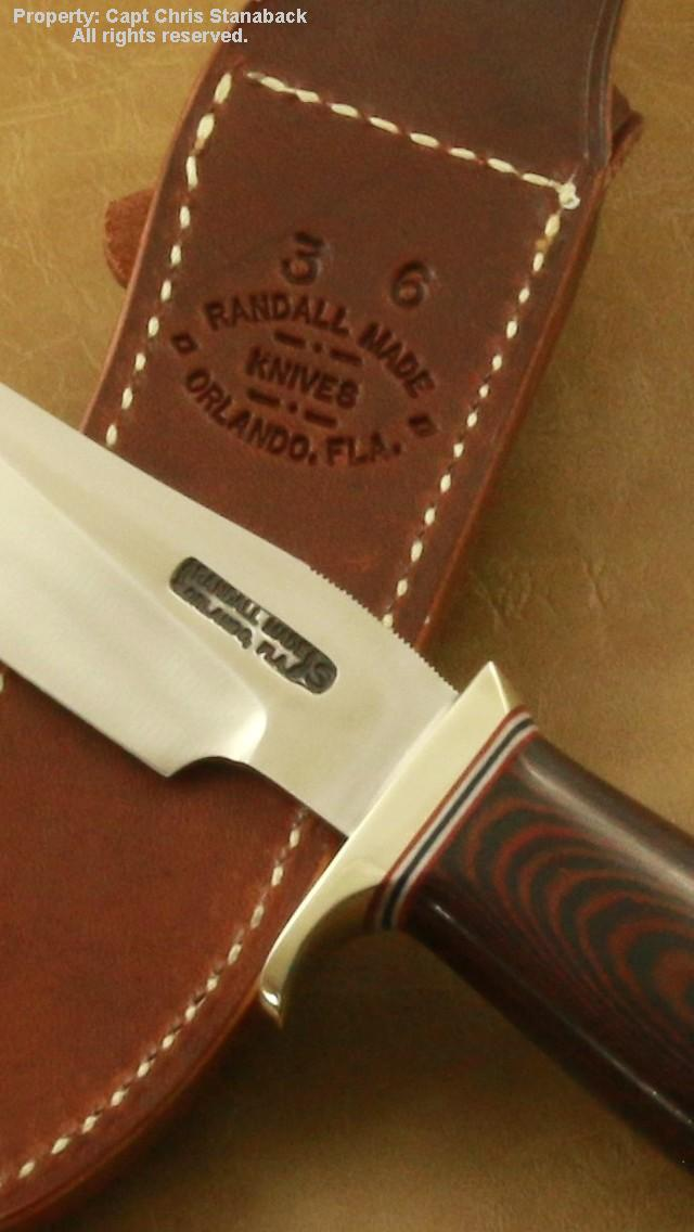 Randall Model #3-6 inch, #6 Grind & Red & Blue Micarta!!