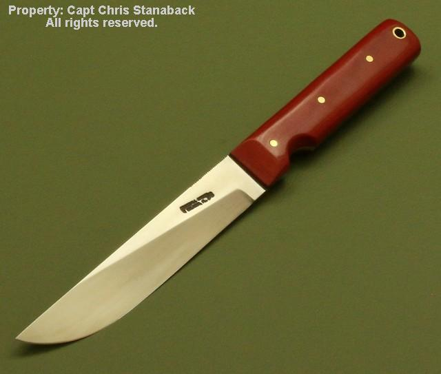 Randall Model #10-5 inch in Red Micarta!