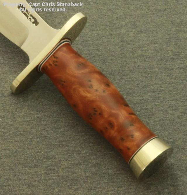 Randall Model #12-8 inch, BEAR BOWIE in Thuya!